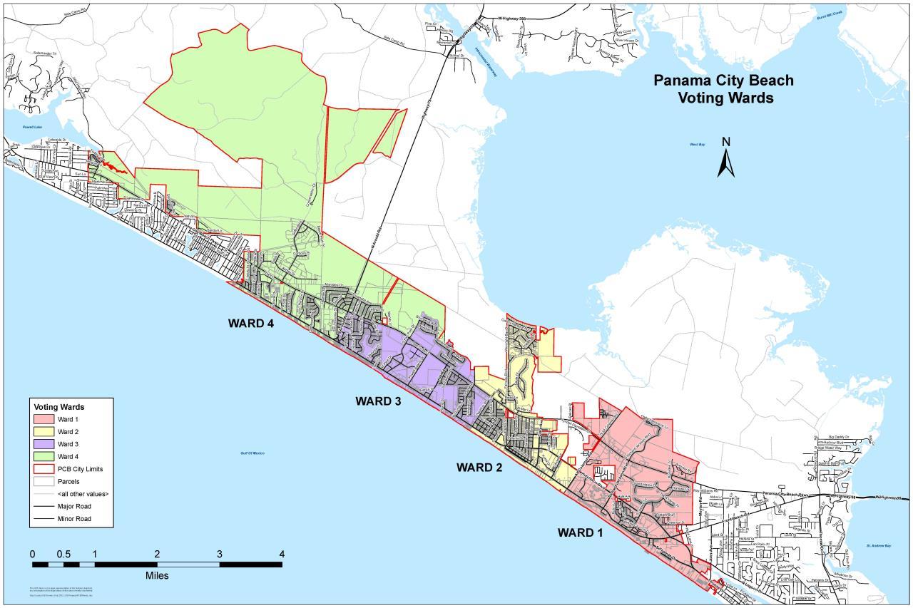Panama City Beach Map Of Florida.Cra Board Members City Of Panama City Beach Fl