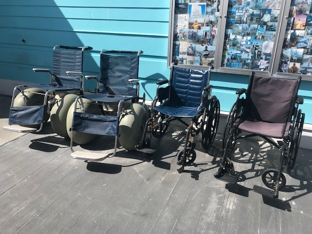 wheelchairs in a row