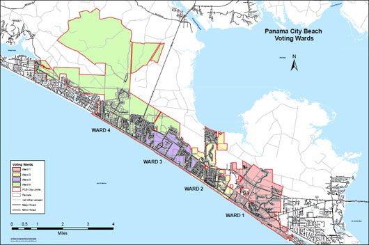 Map Of Panama City Beach Florida.City Council City Of Panama City Beach Fl