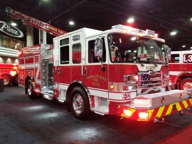 new firetruck on display at Atlanta conference